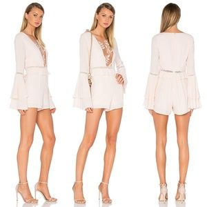 FOR LOVE AND LEMONS Baby Pink Emelia Romper